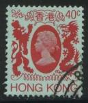 Sellos del Mundo : Asia : Hong_Kong : Scott 391 - Reina Isabel II