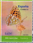Stamps Spain -  Mariposas. Argynnis adippe.