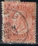 Sellos de Europa - Bélgica -  Scott  65  Leopoldo II