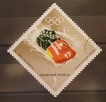 Stamps Hungary -  GRENOBLE 1968