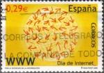 Sellos del Mundo : Europa : España :  Dia de internet