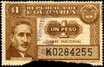 "Stamps of the world : Colombia :  TIMBRE NACIONAL - ESTEBAN JARAMILLO - SERIE ""K"""