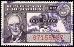"""Stamps of the world : Colombia :  TIMBRE NACIONAL - MANUEL MEJIA - SERIE """"O"""""""