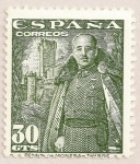 Stamps of the world : Spain :  General Franco y castillo de la Mota