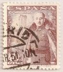 Sellos del Mundo : Europa : España : General Franco y castillo de la Mota