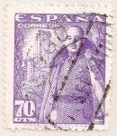 Sellos de Europa - España -  General Franco y castillo de la Mota
