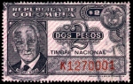 "Stamps of the world : Colombia :  TIMBRE NACIONAL - MANUEL MEJIA - SERIE ""K"""