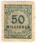 Stamps Germany -  Deutfehes Reich 50 1923