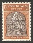 Sellos de Asia - Nepal -  236 - divinidad budista, sweta bhairab