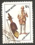 Sellos del Mundo : Asia : Nepal : 399 - instrumento musical, sarangi