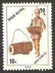 Sellos de Asia - Nepal -  400 - instrumento musical, kwota