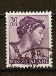 Stamps Italy -  Obras de Miguel Angel.