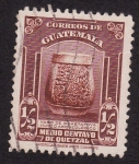 Stamps of the world : Guatemala :  Vaso de Guastatoya Museo Arqueológico