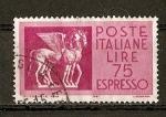 Sellos de Europa - Italia -  Correo Urgente - Arte Etrusco ( Museo de Tarquinia.)