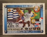 Stamps Asia - North Korea -  copa de oro, final. uruguay 2 brasil 1 futbol