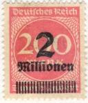 Sellos del Mundo : Europa : Alemania : Deutfehes Reich 20 1923
