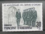 Stamps Andorra -  50 aniversario servicio de orden