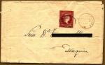 Sellos de Europa - España -  Isabel II -  carta antigüa - Marquina (Álava)