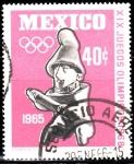 Stamps Mexico -  XIX Juegos Olímpicos 68