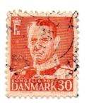 Stamps Denmark -  1948-53-FREDERIK IX- dent-13-PERFORADO