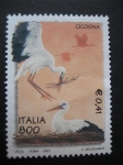 Sellos de Europa - Italia -  Cigüeñas haciendo nido