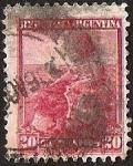 Sellos de America - Argentina -  MUJER, SOL Y OCEANO