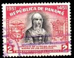 Sellos de America - Panamá -  Reina Isabel