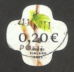 Stamps : Europe : Finland :  2031 - Hoja de abedul