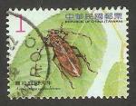 Stamps Asia - Taiwan -  3345 - coleóptero aeolesthes oenochrous