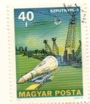 Sellos del Mundo : Europa : Hungría : Spuknik 1 primer satelite artificial 1957