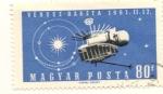 Sellos de Europa - Hungría -  VENUS RAKETA 1961 Sonda a Venus