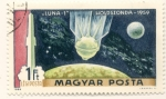 Sellos del Mundo : Europa : Hungría : Luna-1 sonda para estudio de la luna 1959