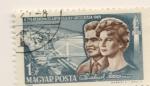 Sellos del Mundo : Europa : Hungría : Valentina Tereskova y A. Grigorievich