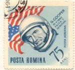 Sellos del Mundo : Europa : Rumania : G. COOPER 22 rotaciones a la tierra 1963