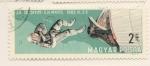 Stamps : Europe : Hungary :  Gemini 4 primer paseo espacial de astronauta USA 1965
