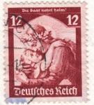Sellos del Mundo : Europa : Alemania : Deutfehes Reich 12 1935
