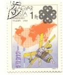 Stamps : Europe : Hungary :  Año mundial de las comunicaiones 1983