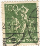 Stamps : Europe : Germany :  Deutfehes Reich 100 1934