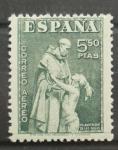 Sellos de Europa - España -  FIESTA DE LA HISPANIDAD, FRAY BARTOLOME DE LAS CASAS
