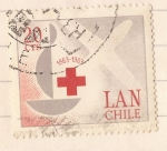 Stamps Chile -  Centenario Cruz Roja Internacional 1863-1963