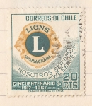 Stamps : America : Chile :  Lions International - Cincuentenario 1917 - 1967