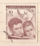 Stamps : America : Chile :  Campaña Nacional de Alfabetizacion