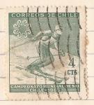 Stamps : America : Chile :  Campeonato Mundial de Ski - Chile 1966