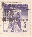 Stamps : America : Chile :  Centenario Cuerpo de Bomberos de Santiago 1863 -1963