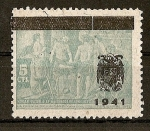 Stamps Europe - Spain -  Velazquez./ Sobrecargados y No Expedidos./Variante Escudo Pequeño.