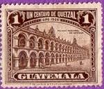 Stamps Guatemala -  Palacio Nacional de Antigua