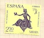 Sellos de Europa - España -  Zodiaco SAHARA