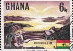 Sellos del Mundo : Africa : Ghana : PRESA DEL RIO VOLGA