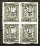 Stamps Andorra -  Escudo de Andorra.
