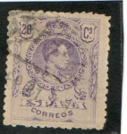 Stamps : Europe : Spain :  273-  Alfonso XIII. Tipo Medallón.